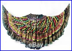 Tribal Gypsy Diva Durga 25 Yard Full Embroidered One of A Kind ATS Skirt