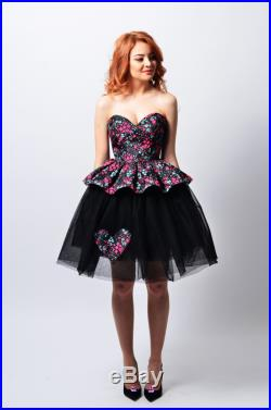 Tulle Skirt and Corset ensemble