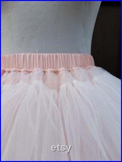 Tulle skirt pastel pink color