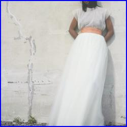 Tutu Cute Skirt Maxi (Ivory and Other Colors Floor-length Tulle Bridal Skirt with Elastic Waistband)