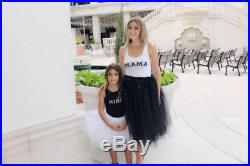 Tutu and shirt mommy and daughter mommy and me outfit mother and daughter skirt tutu mommy and me skirt black and white