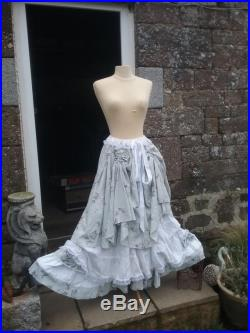 Unique Handmade Victorian Steampunk French Romantic Gypsy Skirt