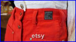 Versace Jeans Couture red skirt, vintage mini medusa skirt medium size,red buttons skirt, Gianni Versace gift for her