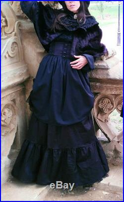 Victorian long skirt Gothic Lolita Amish Steampunk Skirt