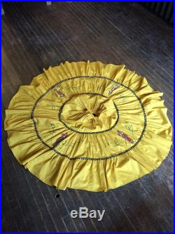 Vintage 1950s Alpha of Tucson Yellow Hand Painted Southwestern Patio Circle Skirt