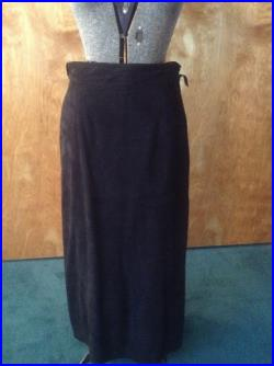 Vintage 1980 Two Piece Suede Shirt and Skirt by Marcy and Co France
