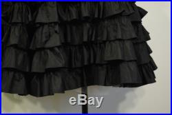 Vintage 50s Taffeta Ruffle Skirt tea length cupcake party special occasion tiered circle twirl gored small medium S M