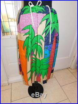 Vintage 80s Graphic Art Miami Art to Wear Joel Resnicoff Signed Mod Skirt Size Large