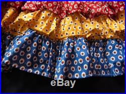 Vintage French Soleiado Skirt Very Full in Provencal Cotton Print