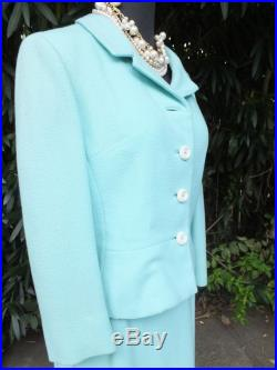 Vintage Marcus Suit, Light Blue Classic Mad Men Style Two Piece Suit, Tailored by Handmacher