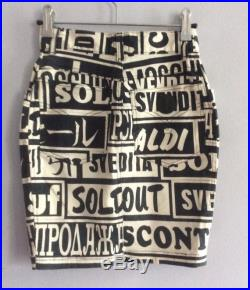 Vintage Moschino Jeans skirt Sale print Made in Italy Moschino cotton pencil mini skirt type words letters Moschino denim skirt jean skirt
