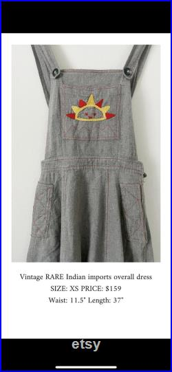 Vintage Rare India Imports Embroidered Jumper , India Cotton Maxi Skirt , Embroidered India Maxi