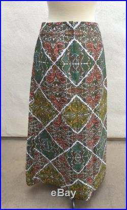 Vintage elegant long skirt by The Lilly Pulitzer Inc floral geometric sz M