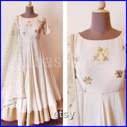 White designer gown lengha lehenga Indian ethnic traditional wear Indian Suit Chania choli Party wear Yellow dress Wedding wear Function 1