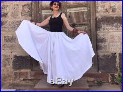 White maxi skirt from pure cotton. A long skirt with the ultimate swish