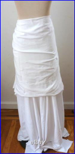 White ruffle layered skirt raw edge skirt is doubled to give a layered look beach wedding skirt tea length also chic bohemian skirt