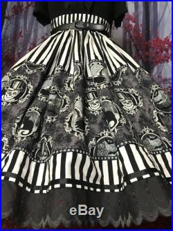 Witches portrait unique one of a kind halloween skirt