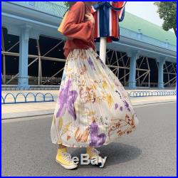Women's Clothing High Waist Pleated A-Line Swing Floral Skirt