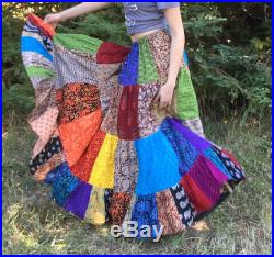 Womens Skirt Long Patchwork Handmade Indian Fabrics 35 -41 length for all sizes