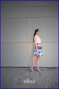 Wrap Around Waist Cotton Blue Skirt Coolawoola Blue Short Skirt All Sizes