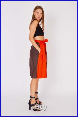 YSL Yves Saint LAURENT skirt NWT vintage 70s colorblock red skirt