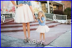 Yours and Mine Bridal Mommy and Me Ivory Tutu Circle Skirt for Photo Shoot, Birthday Party All Sizes Available USA Seller