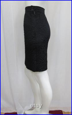 Yves Saint Laurent rive gauche Rare 1970's black quilted silk skirt size 38 US XS