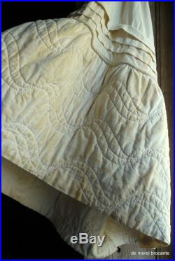 antique french hand quilted petticoat