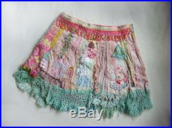 belle pixie a fancy colorful collage couture skirt with lace and beads