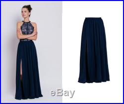 maxi chiffon skirt maxi skirt with a slit floor length skirt floorlength skirt delicate maxi skirt elegant skirt gown separates