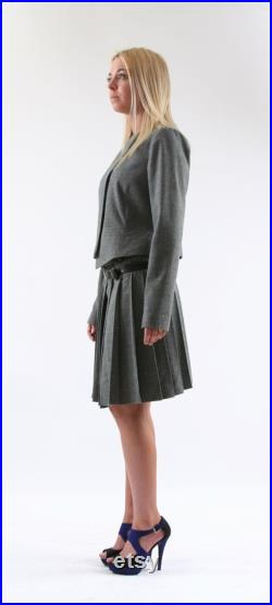 pleated skirt band in real lambskin
