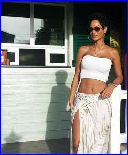 silk and leather wrap skirt