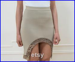 tan givenchy green mini skirt cut out snakeskin lizard avant garde skirt givenchy elastic body con party skirt leather taupe skirt