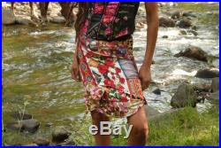 tribal skirt with ethnic patchwork